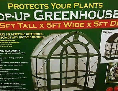 Pop Up Greenhouse Clear Floorless 6.5 ft 5X5 Storage Bag