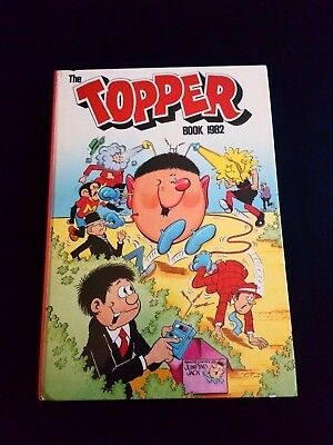 The Topper 1982 Vintage UK Annual Comic Hardback Book Near Mint