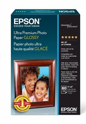 New Epson Ultra-Premium Glossy Photo Paper 3x60 4x6 Sheets  180 Sheets Total