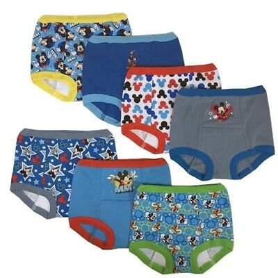 Disney Mickey Mouse Boys Potty Training Pants 7-pack Underwear Toddler