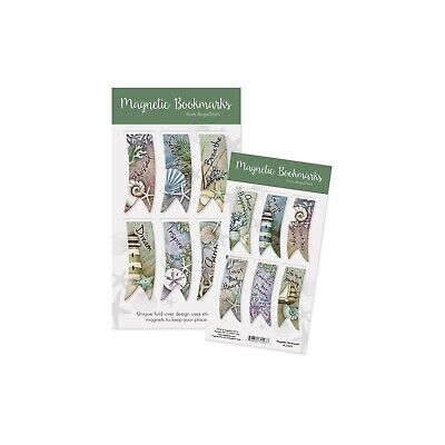 AngelStar Pack of 6 Ocean Sentiment Magnetic Bookmarks