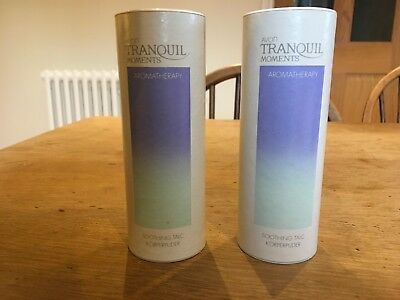 2 x Avon Tranquil Moments Aromatherapy Soothing Talc 100g. Discontinued Rare