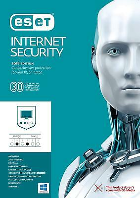Eset Internet Security 2018 V11 1 PC / User - 1 Year! WINDOWS & MAC | INSTANT