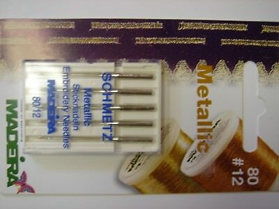 SCHWETZ METALLIC EMBROIDERY SEWING MACHINE NEEDLES X2 Packs