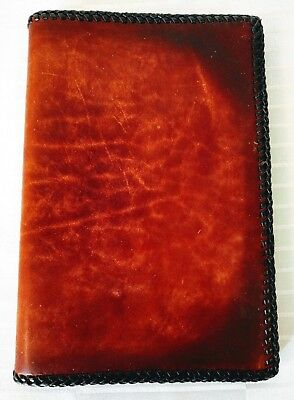 Vintage Leather Book Cover Notebook Bible Journal Agenda Tan Double Lacing