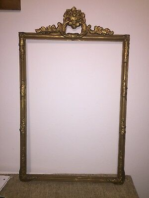 Large Gold Gilt Gesso Wall Mantle Frame perfect for Pictures or mirror (empty)