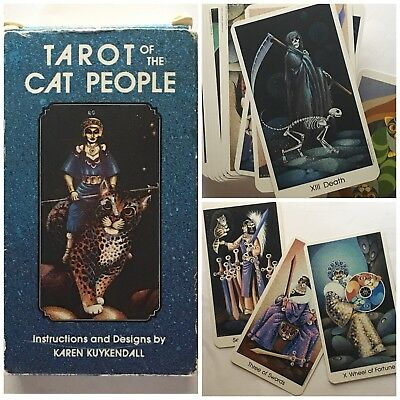Vintage Tarot Of The Cat People 1985 Full Color Deck 78 Cards Fortune Magick