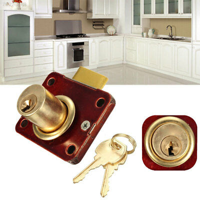 3A49 Durable Cabinet Lock Wine Red Practical Cupboard Door Lock