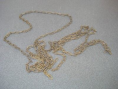"""Solid Brass Clock Chain 100"""" Long 13.1 X 5.8 Mm Link 1.5 Mm Wire Parts Spares"""