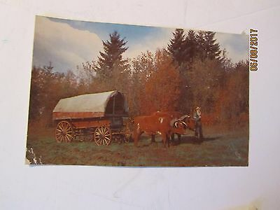 Vintage Blazing the Old Oregon Trail Postcard by Smith's Scenic Views