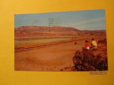 Union Pacific Streamliner Traversing the Rockies RR Postcard by Copper Postcard