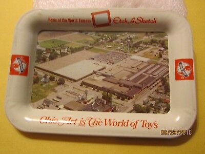 Vintage Ohio Art is the World of Toys Metal Tray by The Ohio Art Co. USA