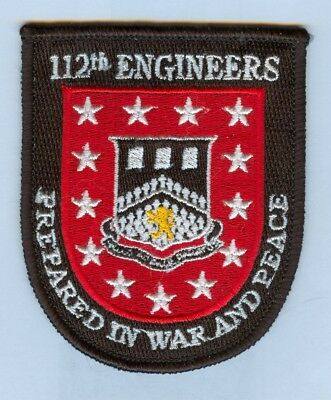 US ARMY:  112th ENGINEER BATTALION POCKET PATCH - MINT