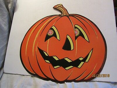 Vintage Large Embossed Jack-O-Lantern Cut Out Made by the Beistle Co USA