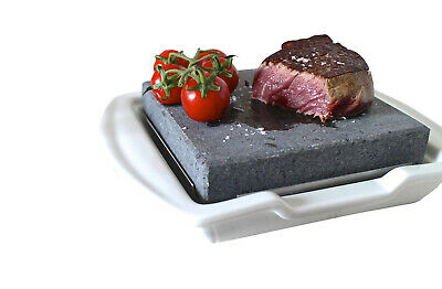 102.Hot Stone Cooking Steak on the Stone Hibachi Grill Lava Sizzling Plate HO-19