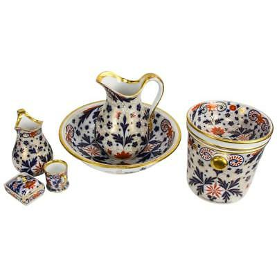 Rare and Fabulous Large Antique Imari Porcelain Chamber Set, England circa 1880s