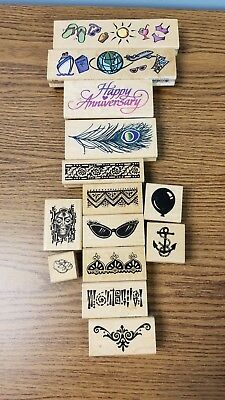 Gently Used Stampendous! Assorted Themed Stamps