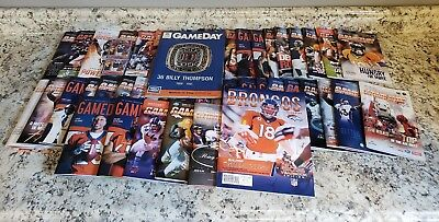 HUGE Denver Broncos Memorabilia, GAMEDAY program, poster, ticket Collectible LOT