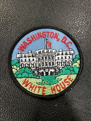 "Vintage Washington D.C. White House 3"" Round Embroidered Iron/Sew On Patch NEW"
