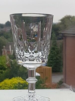 """6 x Royal Brierley Ascot Cut Water Goblet, Unsigned, 6 1/4"""" Tall"""