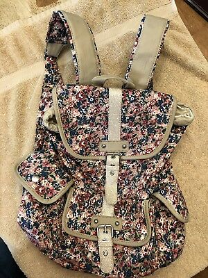 Girls Sparkly Flowered Brand New Backpack