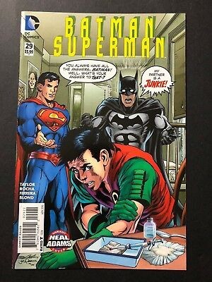 Batman Superman #29 Neal Adams My Ward's a Junkie Homage Variant DC 2013 VF/NM