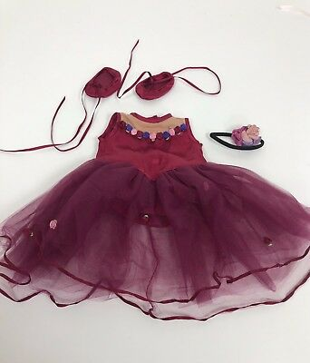 Genuine American Girl Doll Red Ballet Outfit VGC. Retired. Boxed