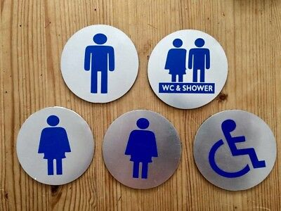Facilities WC Toilet Door Sign Male Female Shower Disabled Good Used Condition