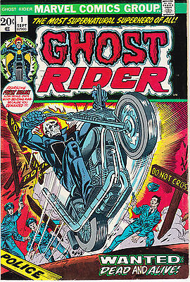 GHOST RIDER 1 - 1st APP SON OF SATAN (BRONZE AGE 1973) - 8.5