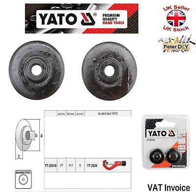 Yato Spare Cutting Wheels For Pipe Cutter YT-2234 - 2 pcs