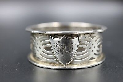 Beautiful Openwork Sterling Silver Antique Napkin Ring