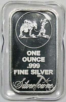 Prospector and Mule SilverTowne .999 Silver Art Bar 1 Troy oz Sealed