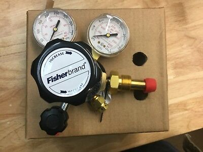 Fisherbrand Brass MultiStage Gas Regulator, 10-575-135, CGA580, AR/N/HE