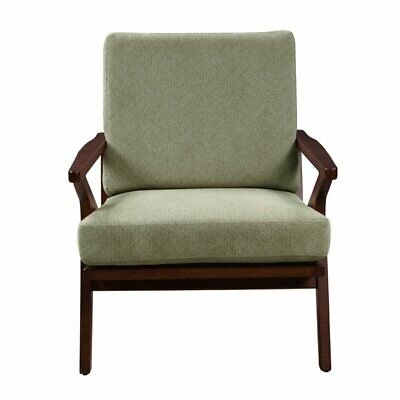 Home Fare Mid Century Sage Green Wood Accent Arm Chair