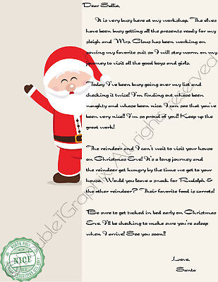 Santa Letter - Letter From Santa - Customize With Name!