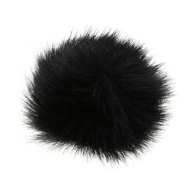 Black Outdoor Microphone Windscreen Wind Muff Furry Cover for Lapel Mic