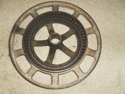 Antique, 9 1/2'' Round Cast Iron Industrial Wheel, Very Cool!