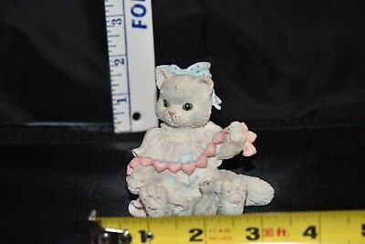 """1993 Enesco Calico Kittens, """"A Good Friend Warms The Heart""""  # 627984"""