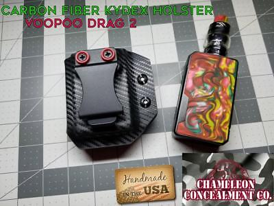 Kydex Holster Carbon Fiber. Fits VooPoo Drag 2. Hand made in the USA. FREE SHIP