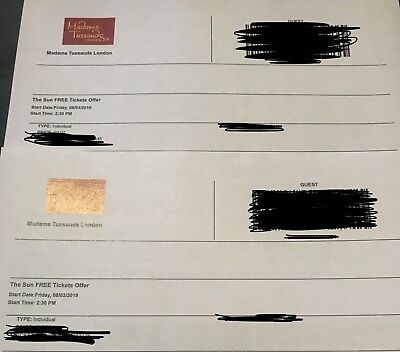 2 Madame Tussaud's London eTickets - Friday 8th February 2019