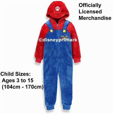 Official SUPER MARIO ONESY Boys / Mens / Girls PJ Nintendo Childs Pyjama Costume