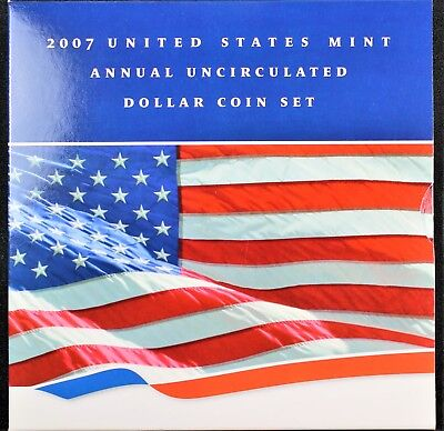 2007 US Mint Annual Uncirculated Dollar Coin Set (Sealed)