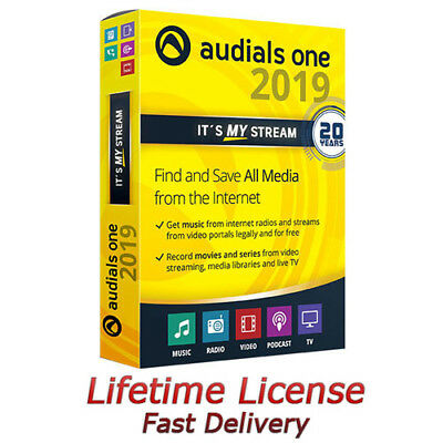 Audials One 2019 Platinum - LIFETIME LICENSE (Unlimited Devices)