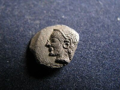 Genuine Little Ancient Greek Silver Coin,Unresearched,Has Some Good Detail (F)