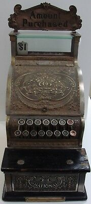 """National Cash Register #313 """"Candy Shop"""" c1910 $1 Max """"Amount Purchased"""" Marquis"""