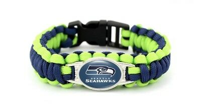 Seattle Seahawks Team NFL Football Paracord Bracelet Super Bowl Wrap Wristband