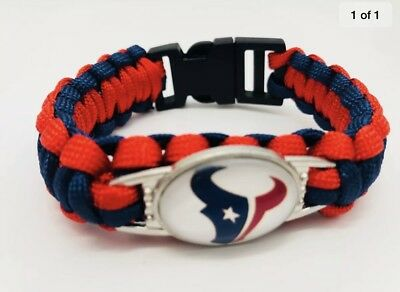 Houston Texans NFL Football Team Paracord Bracelet Wrap Wristband