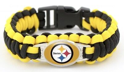 Pittsburgh Steelers NFL Football Paracord Survival Military 550 Cord Bracelet