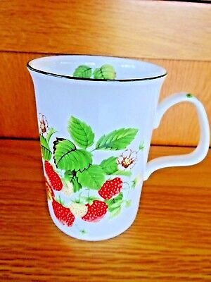Roy Kirkham Strawberry Fruit Garden  Mug Fine  Bone China Vintage 1990