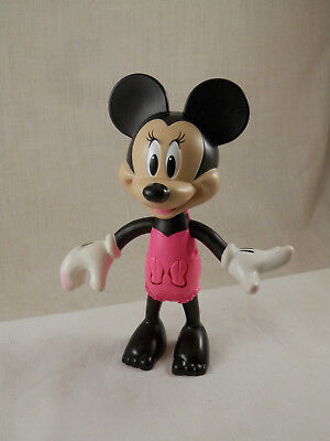 "Disney Minnie  Mouse figure 5.5""  2016 Mattel moveable arms & head"